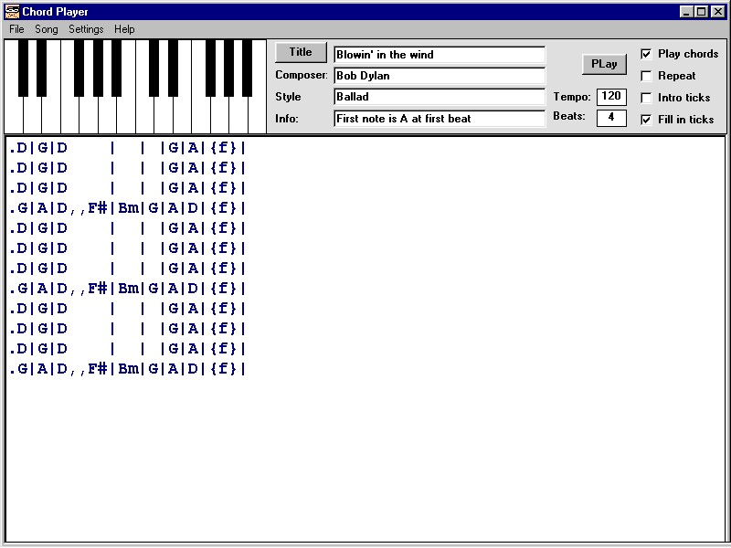 Click to view Chord Player screenshots