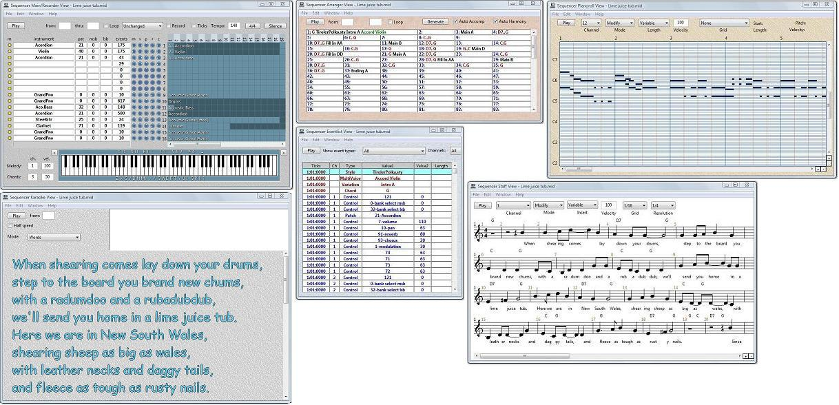 One Man Band - Virtual arranger keyboard and style editor
